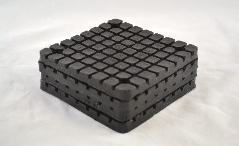 LP618 | Molded Rubber Pad For Bend Pack Square Bolt-On