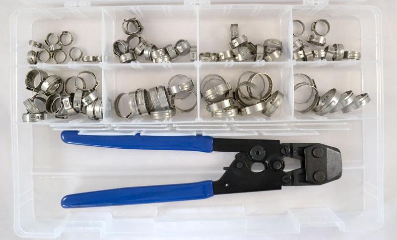 10 pack Fuel Line Pinch Clip Blue