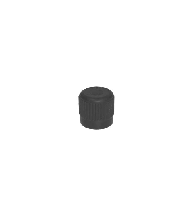 "R12 Black Low Side Service 1/4"" Fitting (Smaller) (3/8"" - 24) Service Cap Neoprene O-Ring (10 count)"