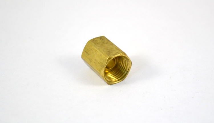 "BF20 | 1/4"" Inverted Tube Union Brass Fitting"
