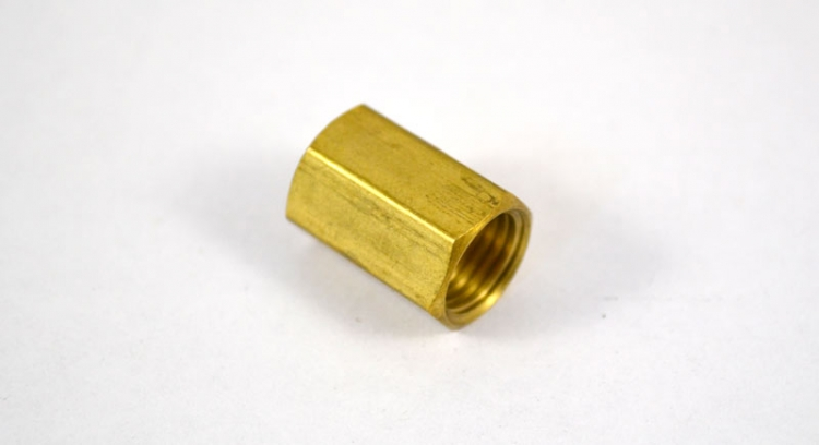 "BF25 | 3/16"" Inverted Tube Union Brass Fitting"