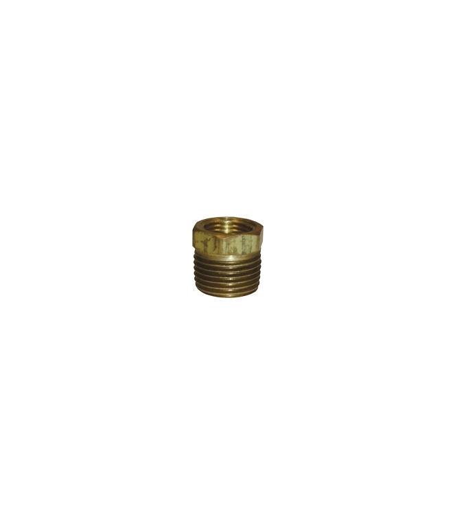 "BF30 | 1/2"" x 3/8"" Pipe Thread Bushing Brass Fitting"