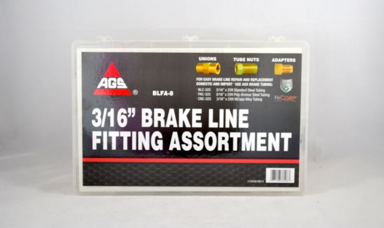 "3/16"" Brake Line Fitting Assortment (111 pieces)"