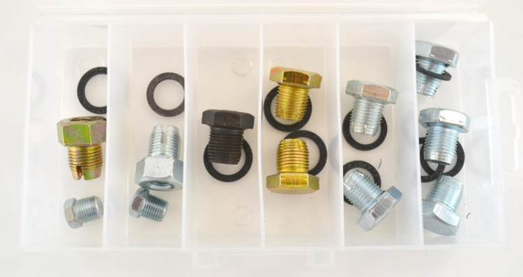DP500 | Standard and Oversize Drain Plug Assortment (10 Pcs)