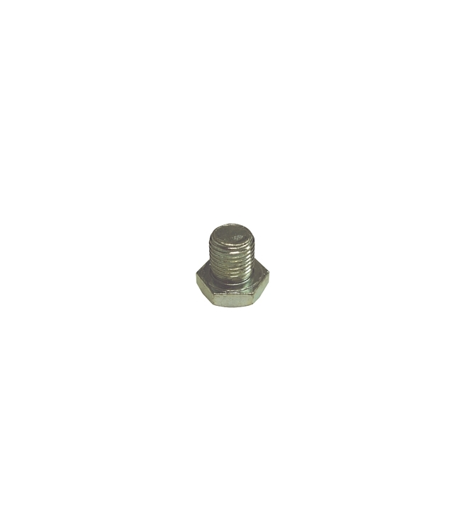 "DP7716 | Drain Plug 1/2"" - 20 Regular Point Zinc Plate 3/4"" Hex Head"