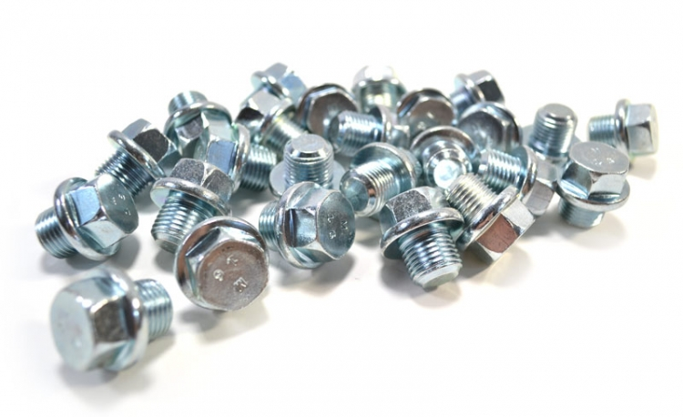 Drain Plug  16mm - 1.50 Regular Point Zinc Plate  19mm Hex (25 count)