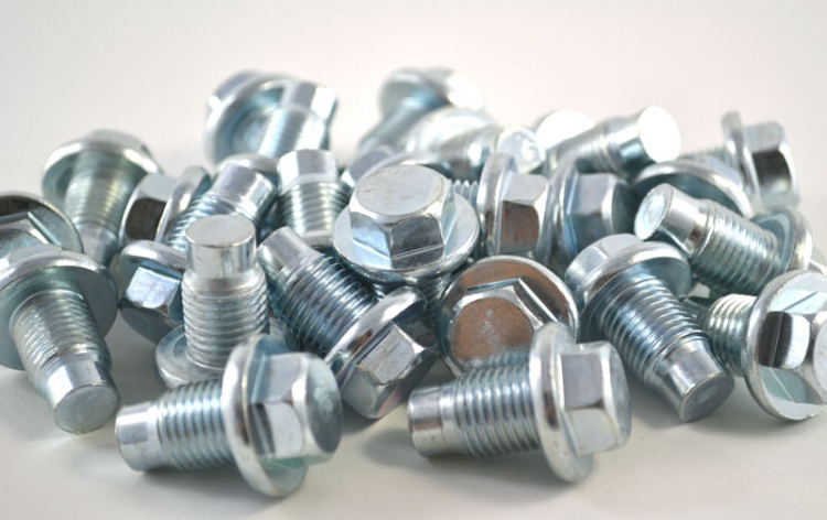 Drain Plug  14mm - 1.50 Dog Point Zinc Plate 16mm Hex (25 count)