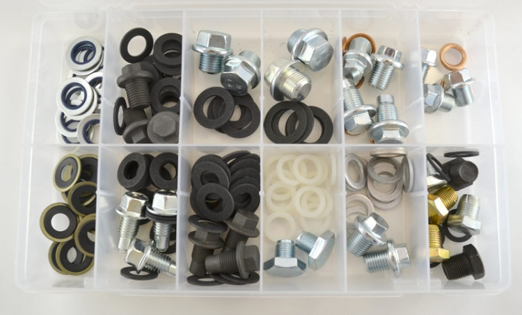 DP800 | Large Drain Plug And Gasket Assortment (162 Pcs)