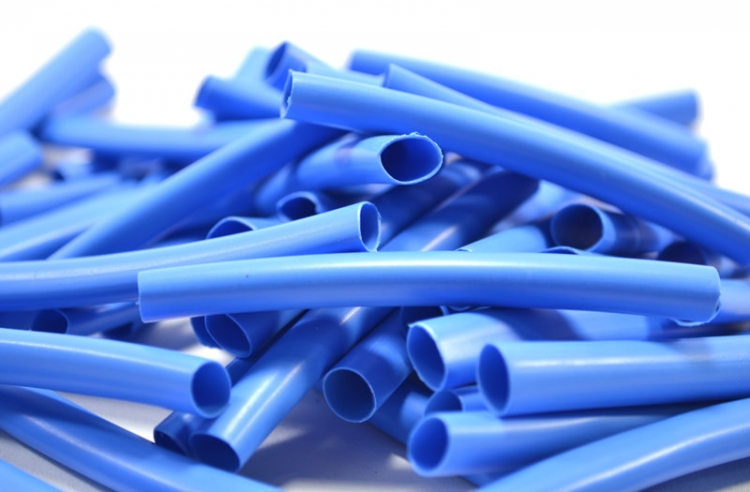 HT65-50 | 3 Inch Blue Heat Shrink Tubing Dual Wall / Meltable Inner Wall - 1/4""
