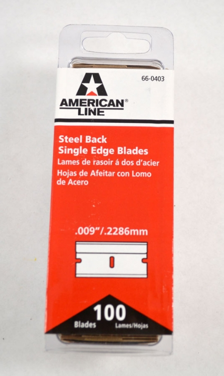 MI120 | Metal Razor Blades Single Edge #9 Blade .009 Thick, U.S. Made, 100 per box