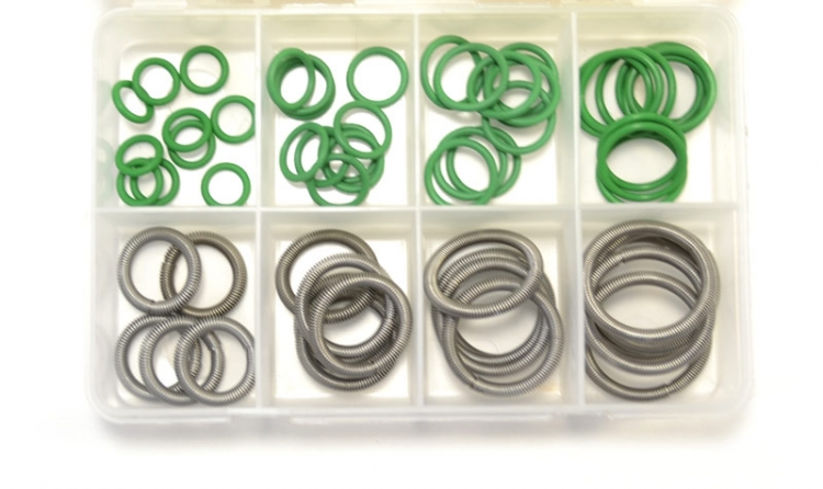 "OPK106 | Ford GREEN ""O"" ring AND GARTER SPRING assortment. 55 total pieces"