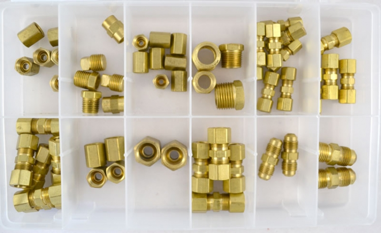 OPK42 | Brass Fittings Assortment 56 pieces