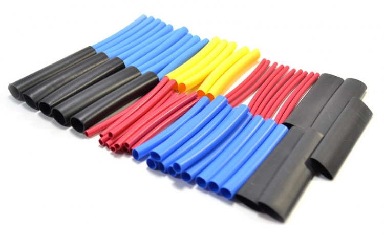 OPK60 | Combo Dual / Meltable Inner Wall And Thin Wall Heat Shrink Tubing Assortment (55 Pcs)