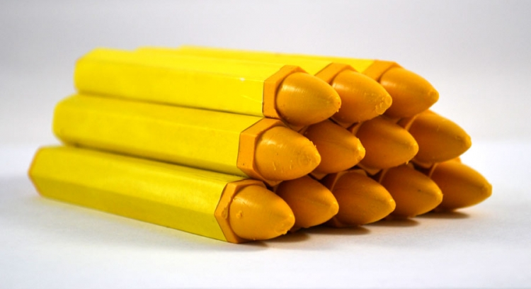 TI212-12 | Yellow Tire Marking Crayon (12 Per Box)