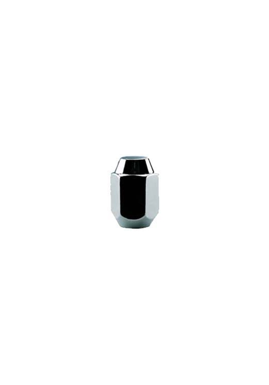 "TI301 | 1-Piece Acorn Chrome Lug Nut, Thread Size 12mm - 1.25, Hex 13/16"", Height 1.43"""