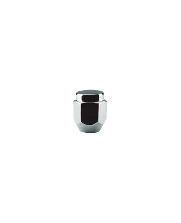 "TI302 | Short 1-Piece Acorn Chrome Lug Nut, Thread Size 12mm - 1.25, Hex 13/16"", Height 1.05"""