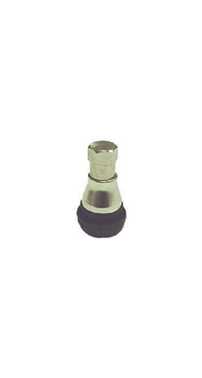 "TR412CS | Snap-In Tire Valve, 7/8"" (25mm) .453"" Valve Hole With Sleeve And Cap, Bag of 50."