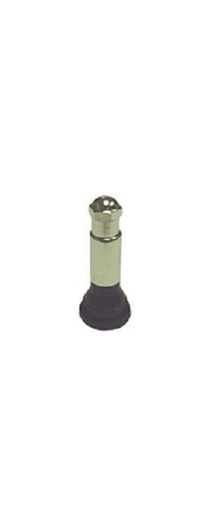 "TR414CS | Snap-In Tire Valve 1 1/2"" (38mm) .453"" Valve Hole WithSleeve And Cap. Bag of 50."