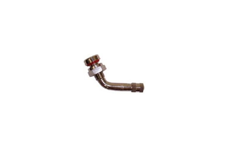 TR543D | 60 Degree Angle Nickel Plated Metric Truck Valve